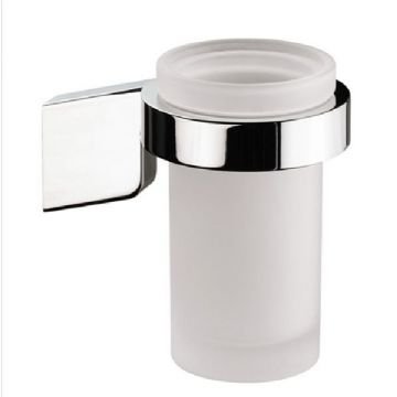Sonia S3 Frosted Glass Tumbler Holder Chrome 124695